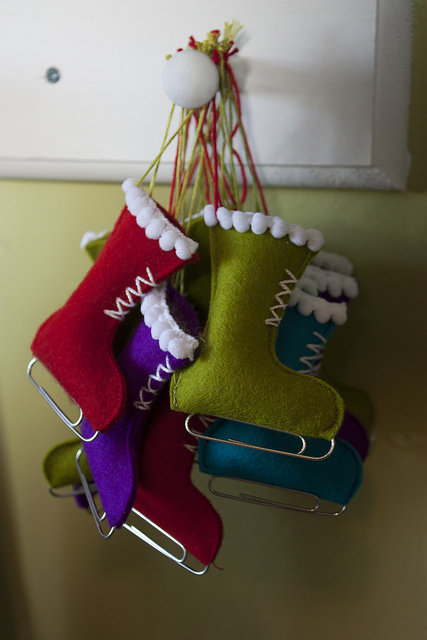 Ice skate decorations home is possible for Ideas for christmas crafts handmade